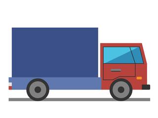 Lorry, flat style