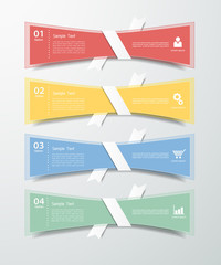 Abstract template 4 steps. Can be used for workflow layout, banner
