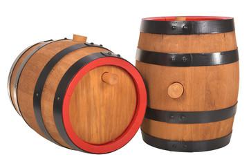 zwei alte Bierfässer