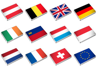 Flags of the countries of Western Europe