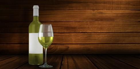 Composite image of white wine