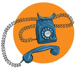 Vintage Telephone No.1, handset off
