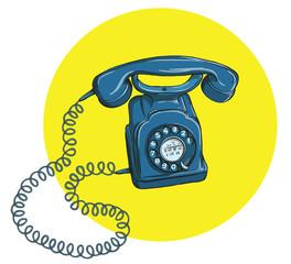 Vintage Telephone No.5, handset on