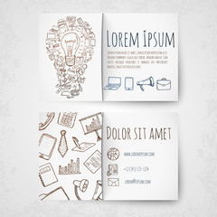 Business card vector template.