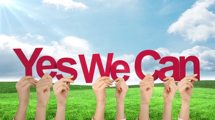Photos illustrations et vid os de yes we can for Bett yes we can