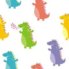 Funny dragon vector print for kids