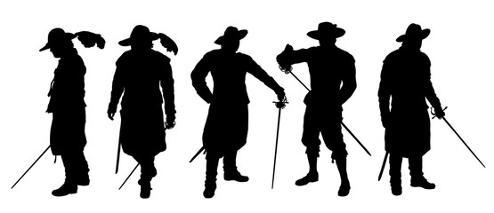 musketeer silhouettes