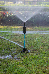 grass field water sprayer