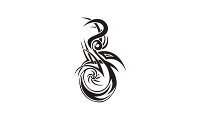 tribal tatto oriental design