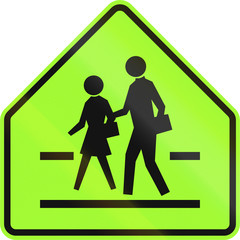 Road sign in the Philippines - School crossing warning sign