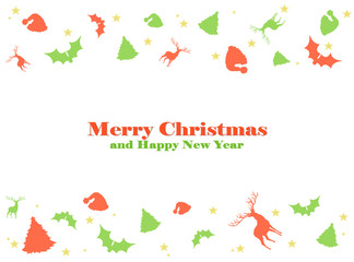 Merry Christmas card - white background