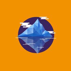 Geometric abstract iceberg. Flat style vector illustration
