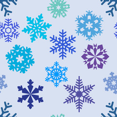 Seamless pattern from snowflakes