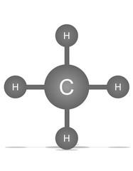 CH4, metan
