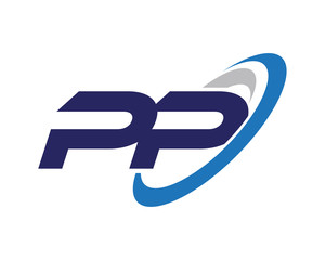 PP Swoosh Letter Logo