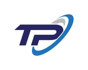 TP Swoosh Letter Logo