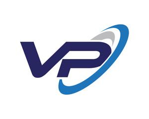 VP Swoosh Letter Logo