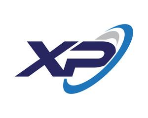 XP Swoosh Letter Logo