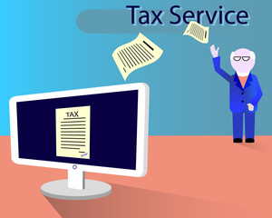 Inspector receives an electronic tax payment