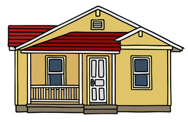 Small house / Hand drawing, vector illustration