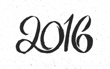 New Year 2016 vintage greeting card