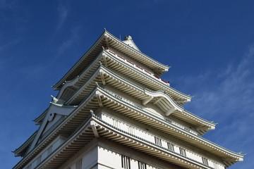 豊田城/茨城県常総市新石下にある、豊田城(地域交流センター)を撮影した写真です。天守閣の高さは48.5mです。展望室からは関東平野を一望でき、天気が良ければ東京スカイツリーも見ることができます。