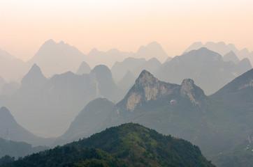 Guilin Yaoshan Mountain, China..