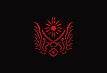 sword emblem design vector