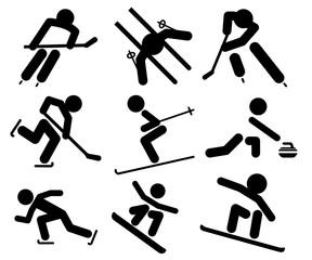 Icono plano deportes de invierno #1