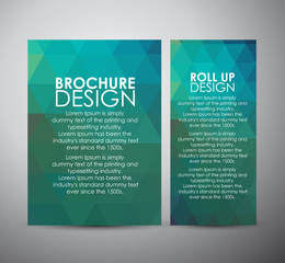 Abstract brochure business design template or roll up. Vector illustration