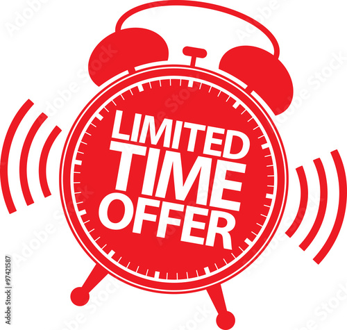 quotlimited time offer red label vector illustrationquot stock