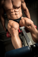 Bodybuilder's quads
