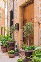 Mediterranes Haus Eingang Edel Dekoriert