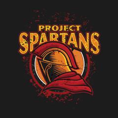 Grunge Spartan T-Shirt Design