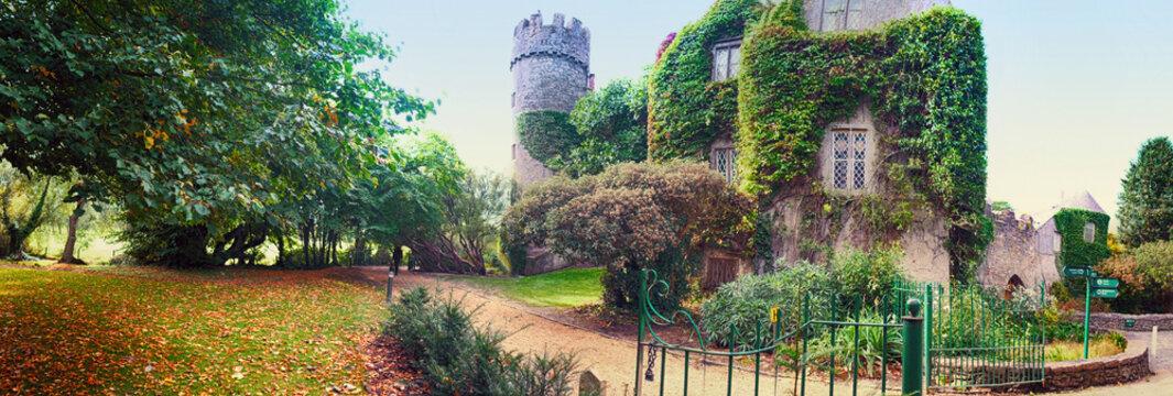 panorama of castle near Dublin