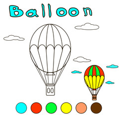 Balloon coloring book for children and adults