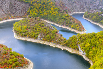 Meander of the Uvac river, Serbia