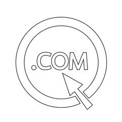 Domain dot COM sign icon Illustration