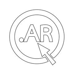 Argentina Domain dot AR sign icon Illustration