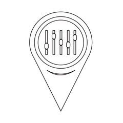 Map Pointer equalizer icon