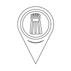 Map Pointer pepper shaker icon