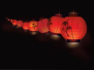 Chinese paper lantern garland
