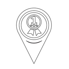 Map Pin Pointer number 1 icon