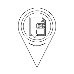 Map Pin Pointer File type JPG icon