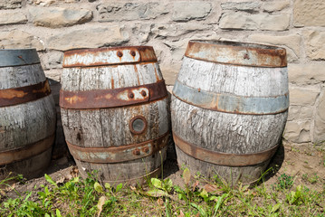 Abandoned Beer Barrels