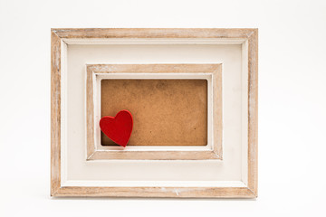 Picture frame with red heart