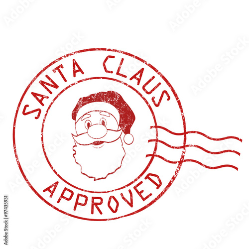 Quot Santa Claus Approved Stamp Quot Stock Image And Royalty Free