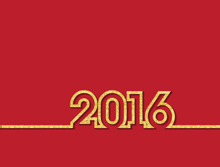 Vector gold glitter new year 2016