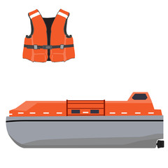 Life boat and jacket