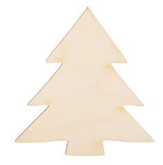 Christmas tree shape made of wood decoration